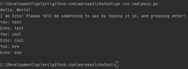 Chatbot 1: Build a simple textbot